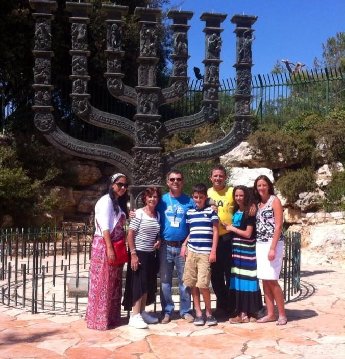 Jerusalen el candelabro en la Kneset
