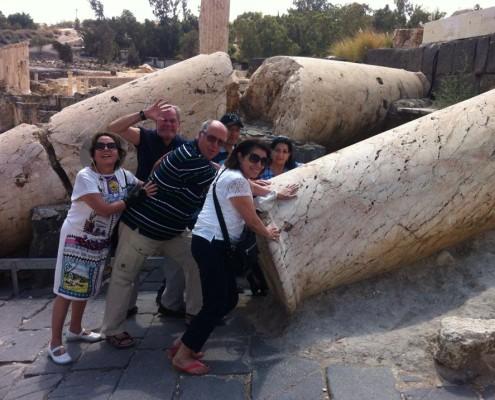 En la ciudad de Beit Shean con la arqueologia biblica