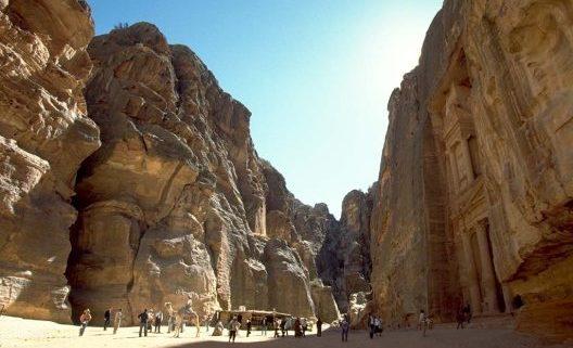 Los acantilados en Petra