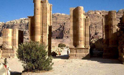 columnas en Petra