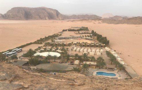 wadi-ram Vista al Campamento