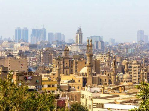 vista de las mezquitas en cairo